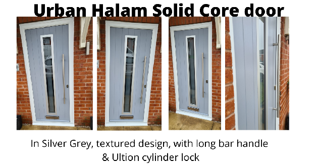 Solid Core Urban Halam composite door